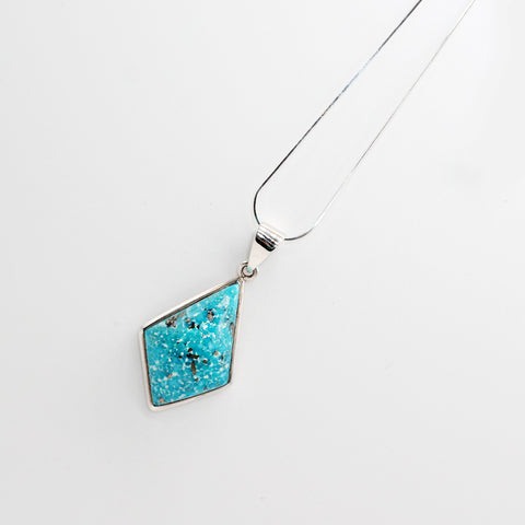 Silver Chain and Pendant Turquoise