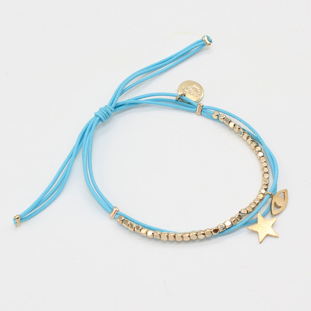 Les Cleias Bracelet Double Strand Eye and Star