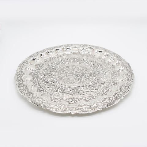 Silver round plate