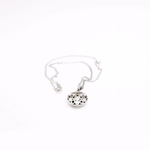 Pure Silver Necklace with Handcrafted Pendant with Enamel