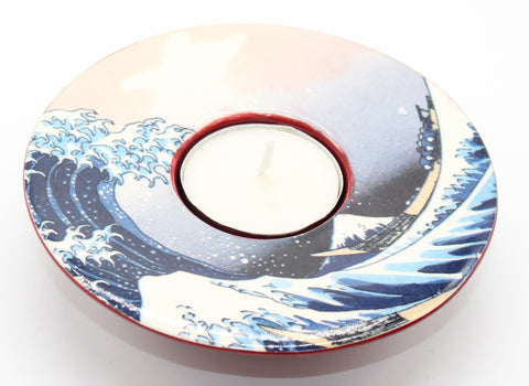 Tea Light Hokusai The Grate Wave