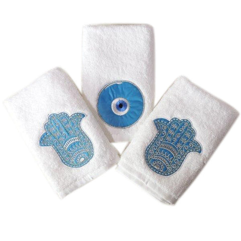 Guest Towels Kaff and Eye White Set of 3
