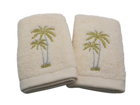 Guest Towels Palm Tree Set of 2