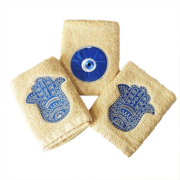Guest Towels Kaff and Eye Ivory Set of 3