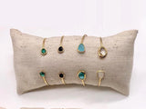 Les Cleias Bangle with Precious Stones