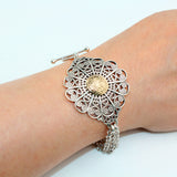 Arabian Silver Jewellery Bracelet with Gold
