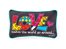 Romero Britto Pillow Love