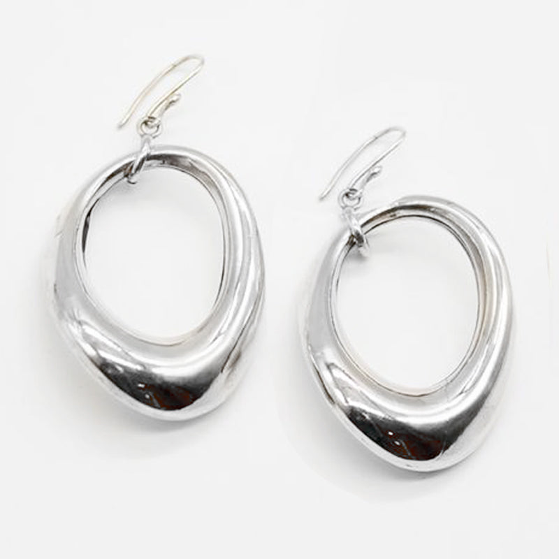 Pure Silver Earrings Loop Large