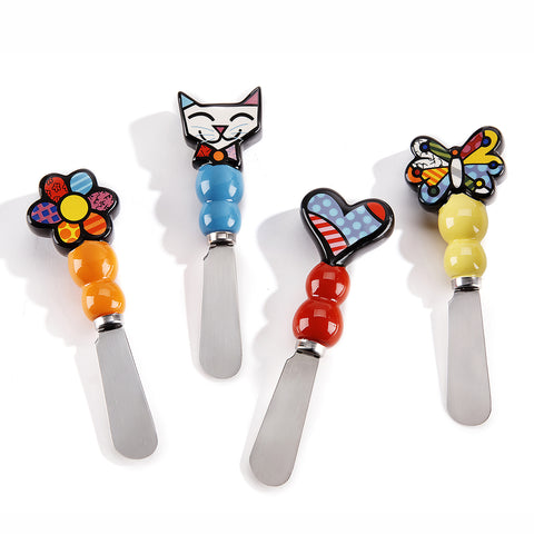 Romero Britto Ceramic Spreaders