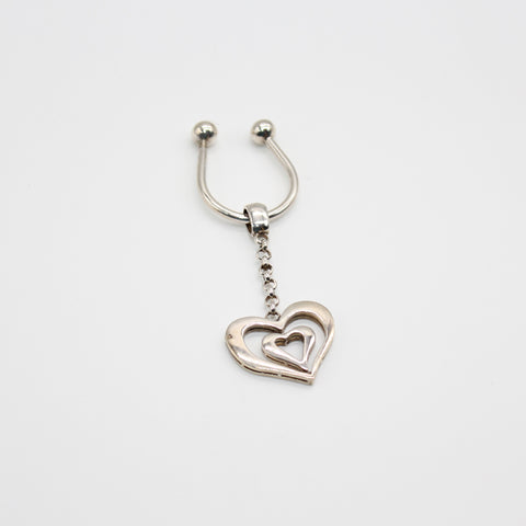 Pure Silver Keychain Heart
