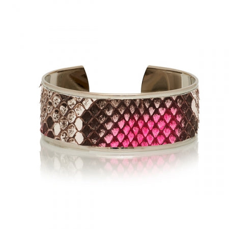 Opale Yuma Python Bleached Fluo Pink/silver Bangle