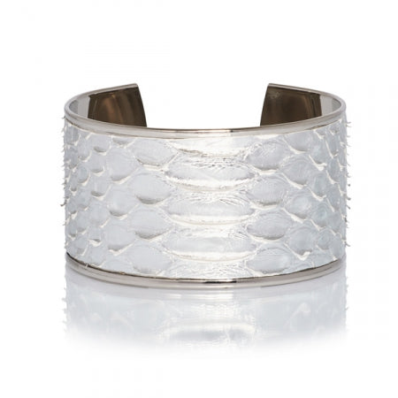 Opale Yuma Python Squame Silver/White Bangle