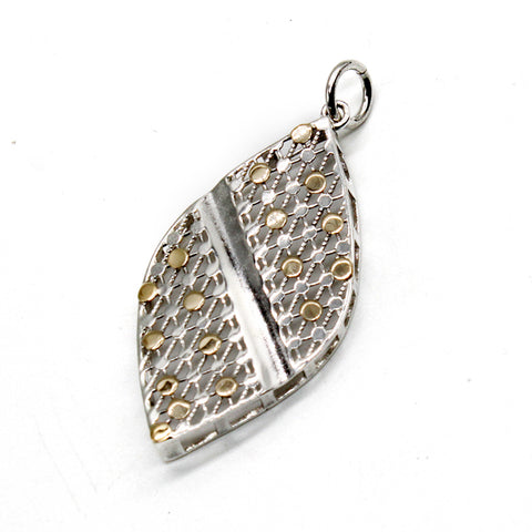 Arabian Silver Jewellery Pendant with Gold Leaf