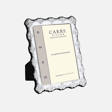 Traditional Sterling Silver Frame Grey Velvet Back by Carss of Sheffield