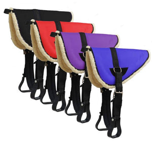 Bareback Pad with Stirrups and Girth Treeless Riding Saddle Pad FREE BAG!! - equicraftltd
