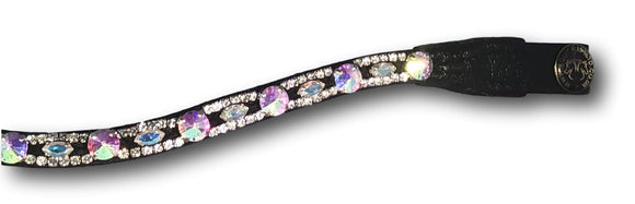 Two Tone Rainbow Crystal Browband - equicraftltd