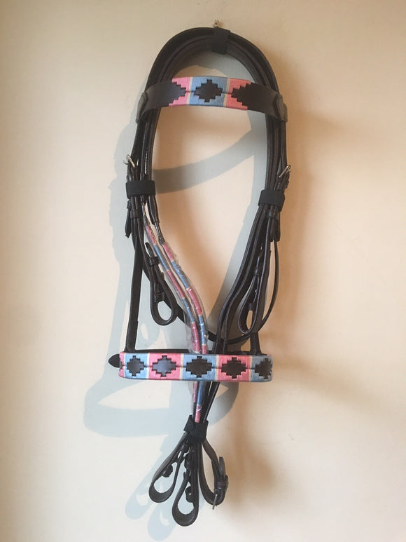 POLO BRIDLES BABYPINK/BLUE & RED/NAVY - equicraftltd