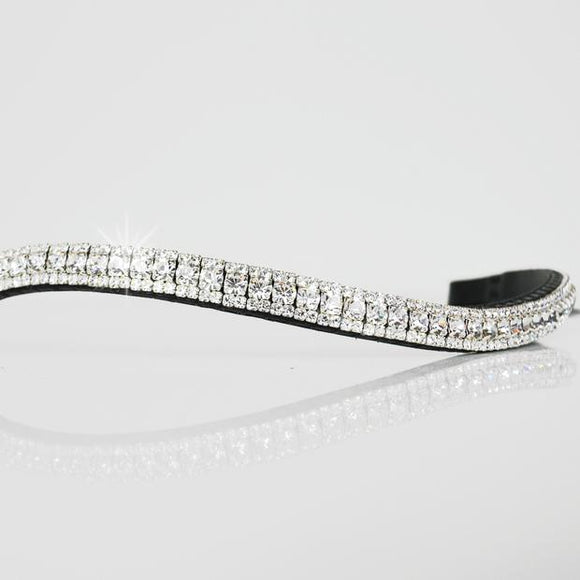White Crystal Browband - equicraftltd