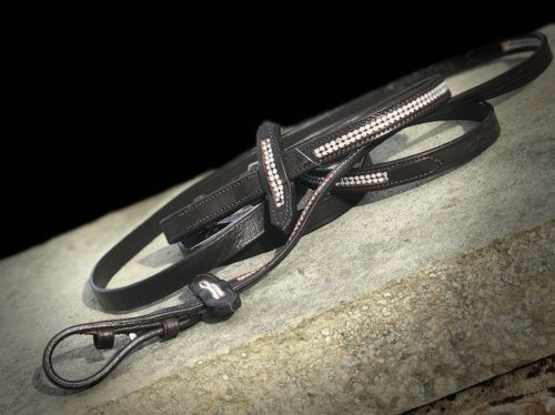 Crystal Bling Reins - ideal for dressage lovers - bling up your horse bridle!