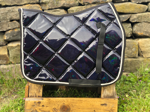 HOLOGRAPHIC saddle pads! numnahs full or pony size! NEW TO THE MARKET - equicraftltd
