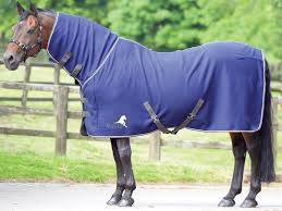 MASTA FLEECE RUG AVANTE FIXED NECK NAVY - equicraftltd