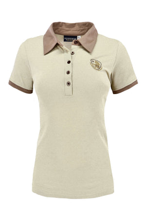 Equestrian Queen Olympia Polo Shirt Beige