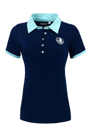 Equestrain Queen Olympia Polo Shirt Navy