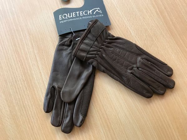 Equetech Leather Showing Gloves