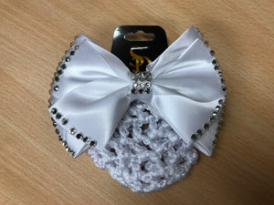 SD Diamond Hair Bow with Pearls and Net