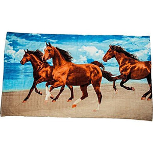 HKM Beach Towel 3 Horses