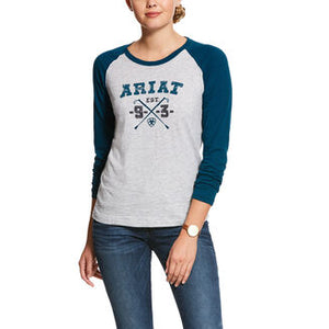 Ariat Whips Logo Ladies Long Sleeve T Shirt