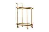 Push trolley metaal antique brass