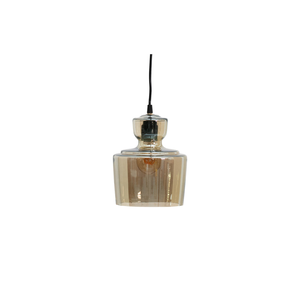 Stream hanglamp glas antique brass ø17cm