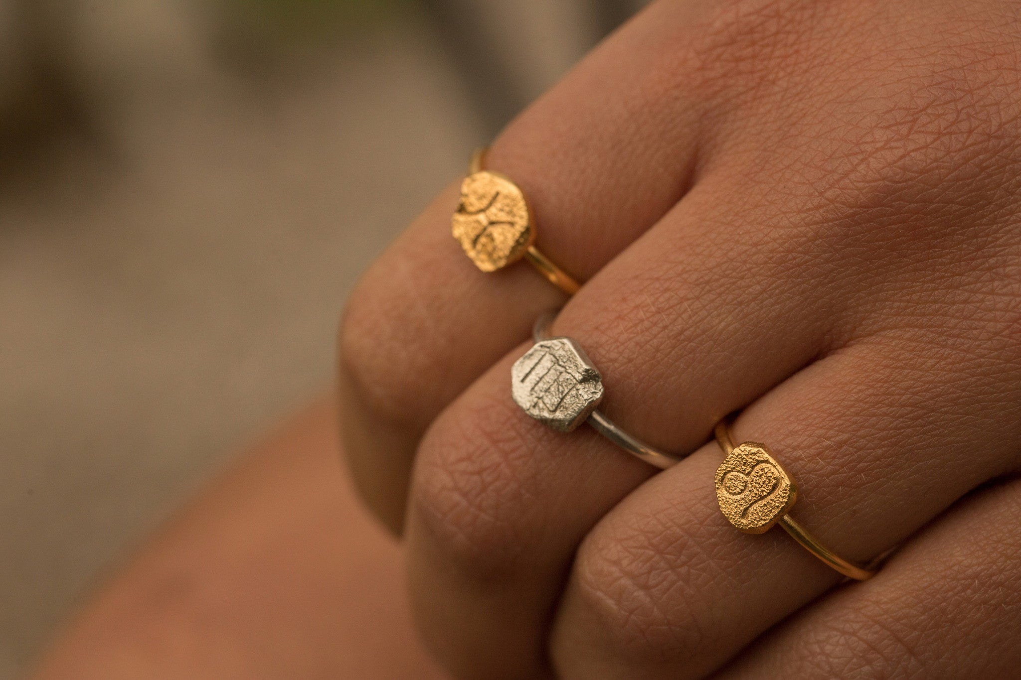 star sign zodiac ring