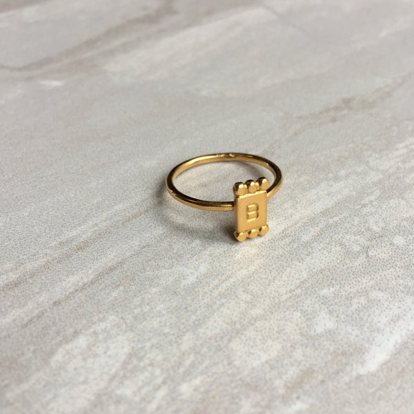 Personalised Initial Letter Ring