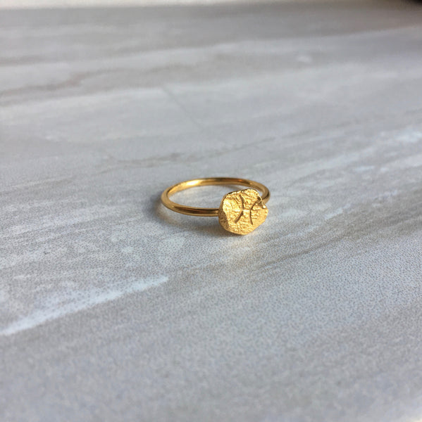 Zodiac Gold Ring