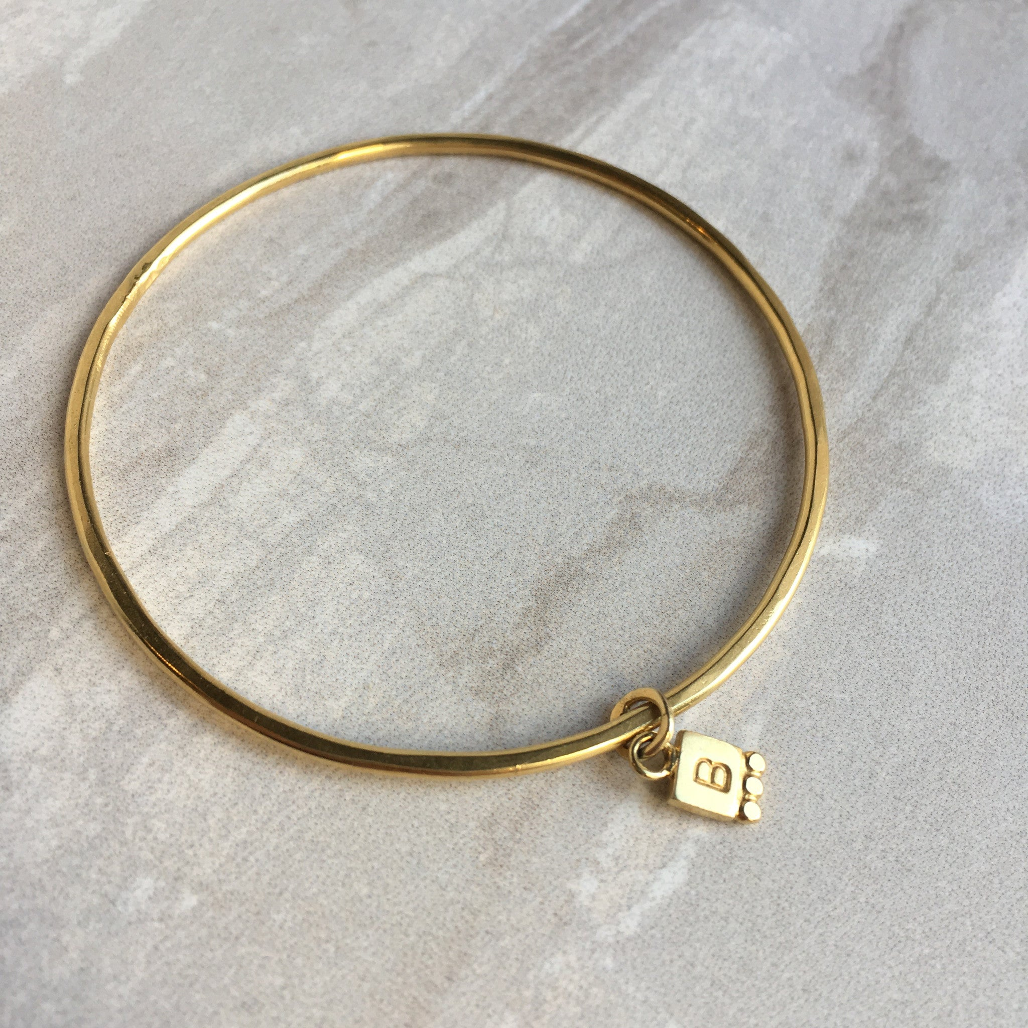 personalised letter initial bangle