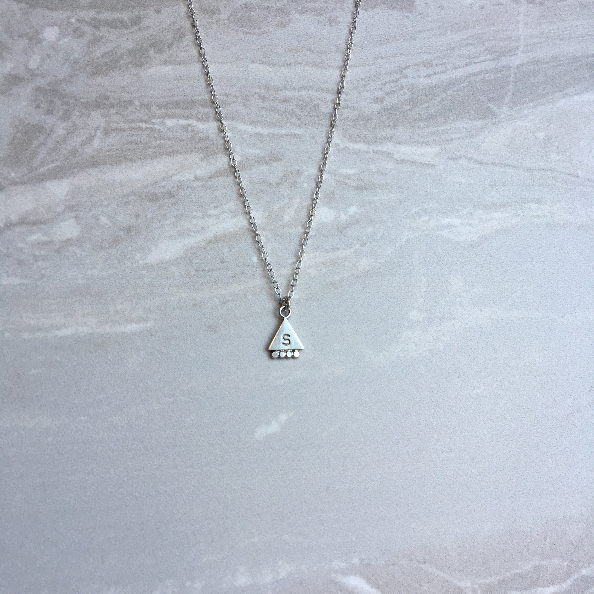 Personalised Pyramid necklace
