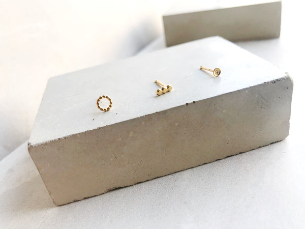 Set of Three odd studs - Style 1