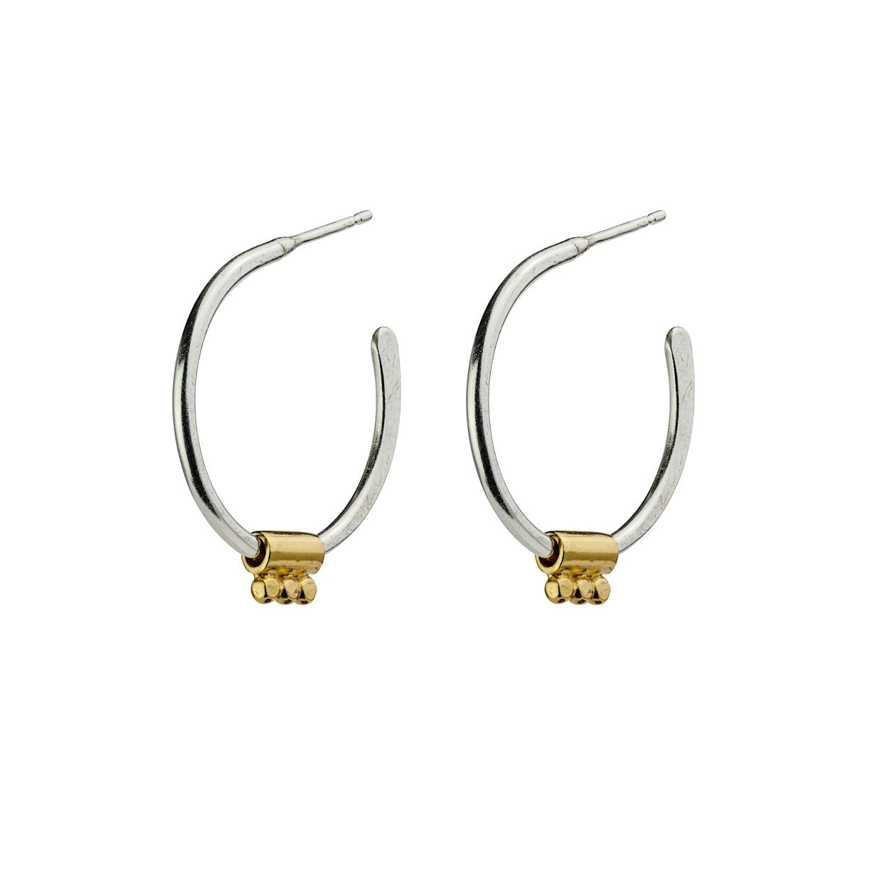 Hoop Earrings Gold Boudicca Bead