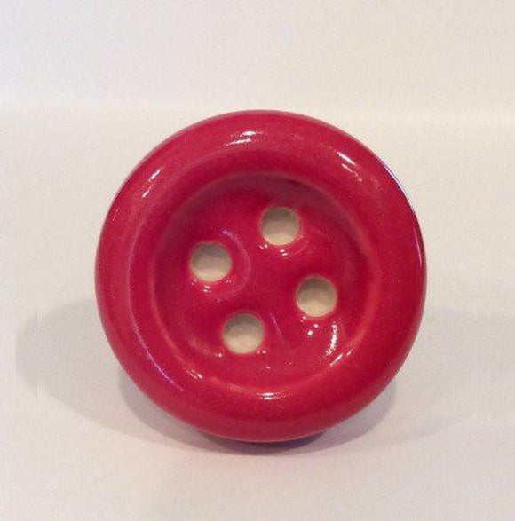 Red Porcelain Sewing Button Cabinet Knobs Drawer Pulls-Dwyer Home Collection