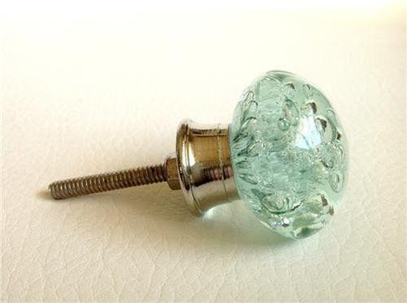 Mint Green Sea Glass Bubble Cabinet Knobs Dresser Drawer Pulls Coastal-Dwyer Home Collection
