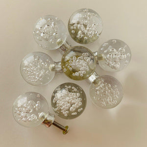 8 Clear Bubble Cabinet Knobs Drawer Pulls 1-Inch-Dwyer Home Collection