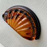 Amber Glass Cup Style Cabinet Desk Drawer Pulls-Dwyer Home Collection