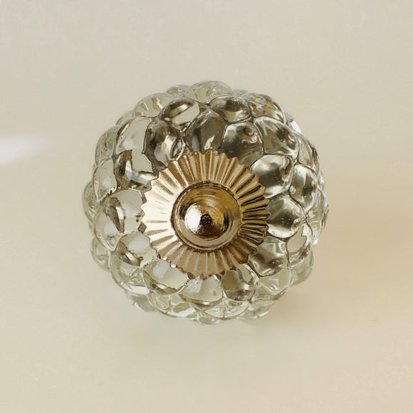 Clear Hobnail Glass Studded Cabinet Knob Pull-Dwyer Home Collection