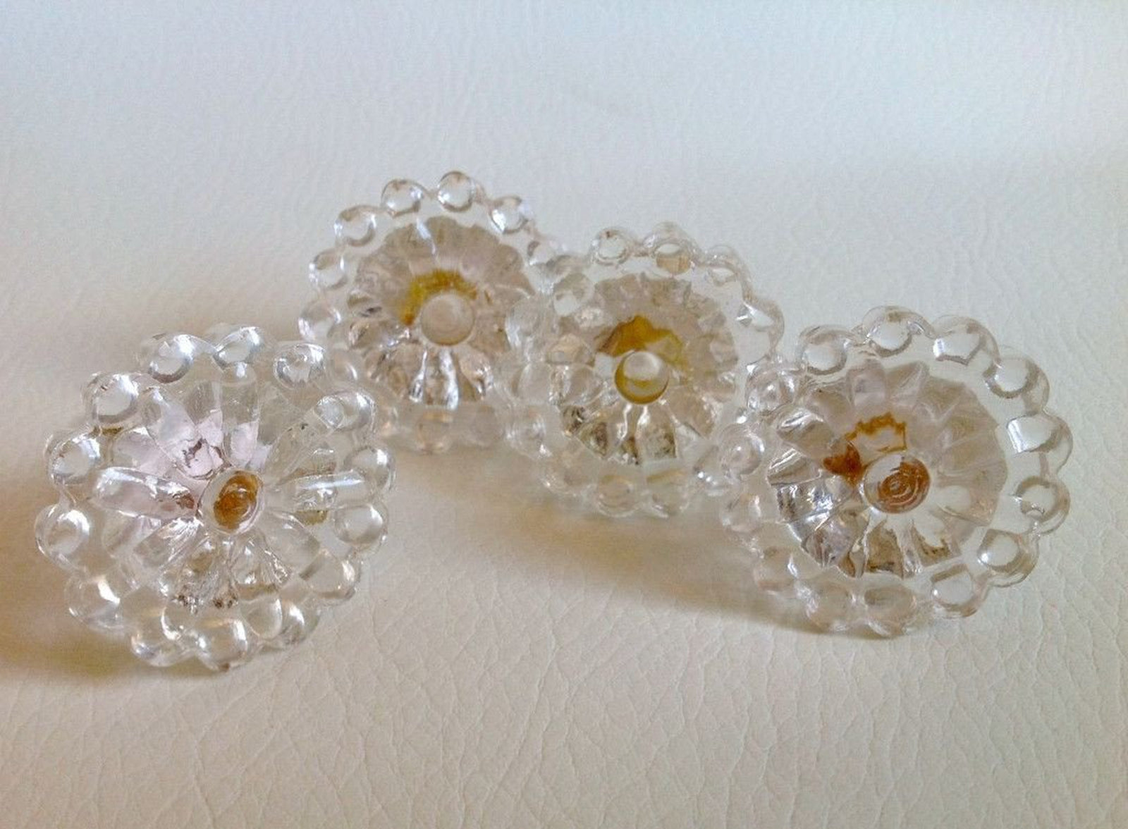 Clear Glass Bubble Cabinet Knobs Pulls Decorative Hardware Seconds