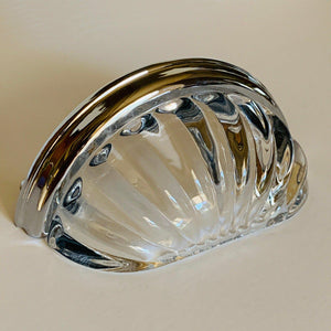 Clear Glass Cup Style Cabinet Desk Drawer Pulls-Dwyer Home Collection
