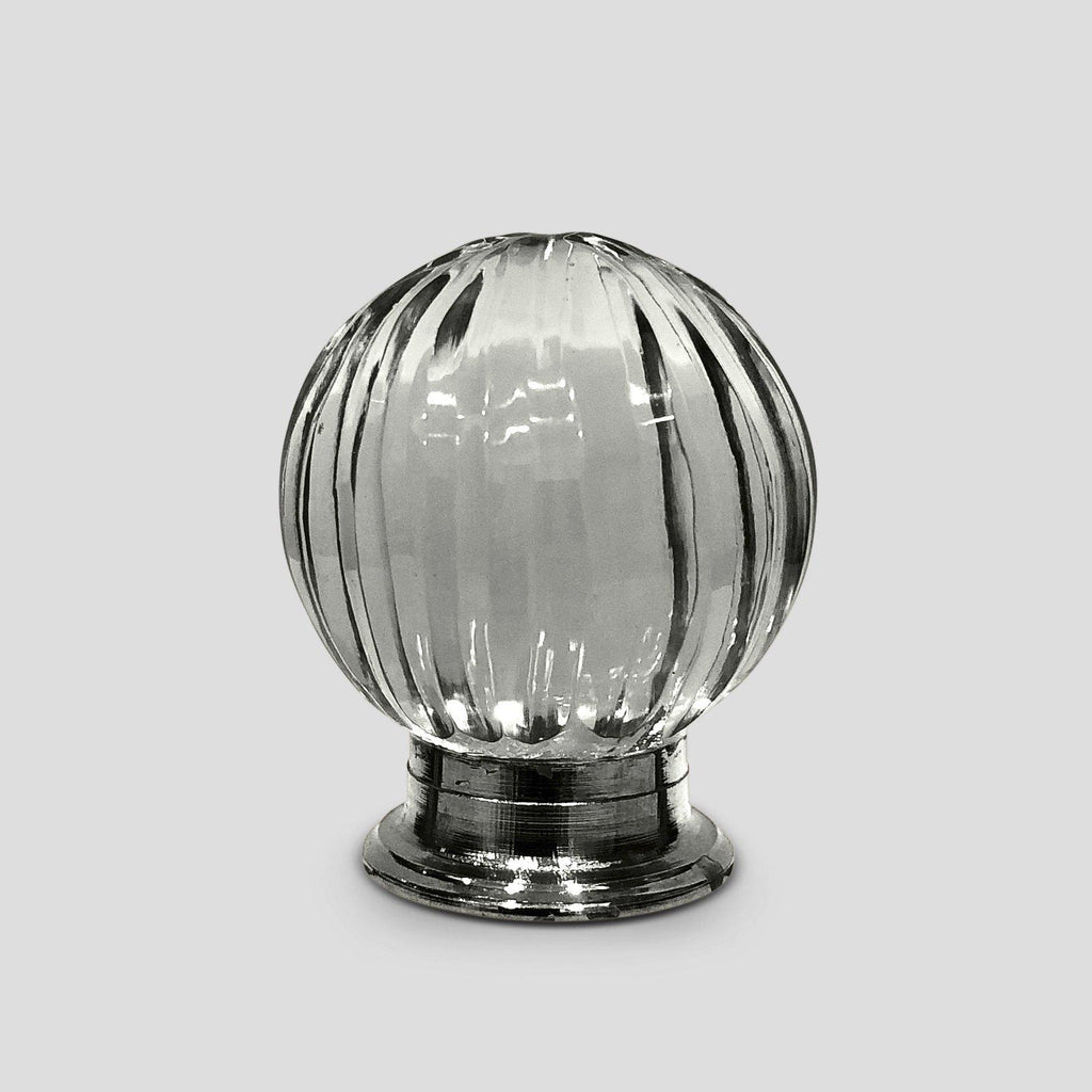 Clear Glass Tiny Beveled Cabinet Knobs Dresser Drawer Pulls-Dwyer Home Collection