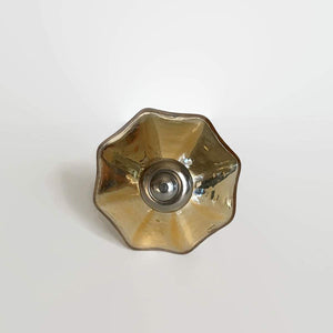Gold Mercury Glass Cabinet Knobs With Simple Silver Collar-Dwyer Home Collection