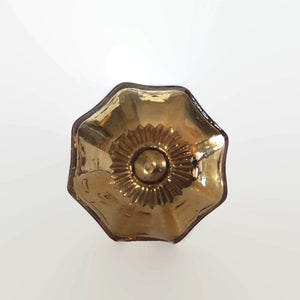 Gold Mercury Glass Cabinet Knobs Dresser Drawer Pulls-Dwyer Home Collection